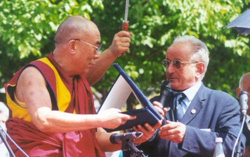 Premiazione Dalai Lama 2001