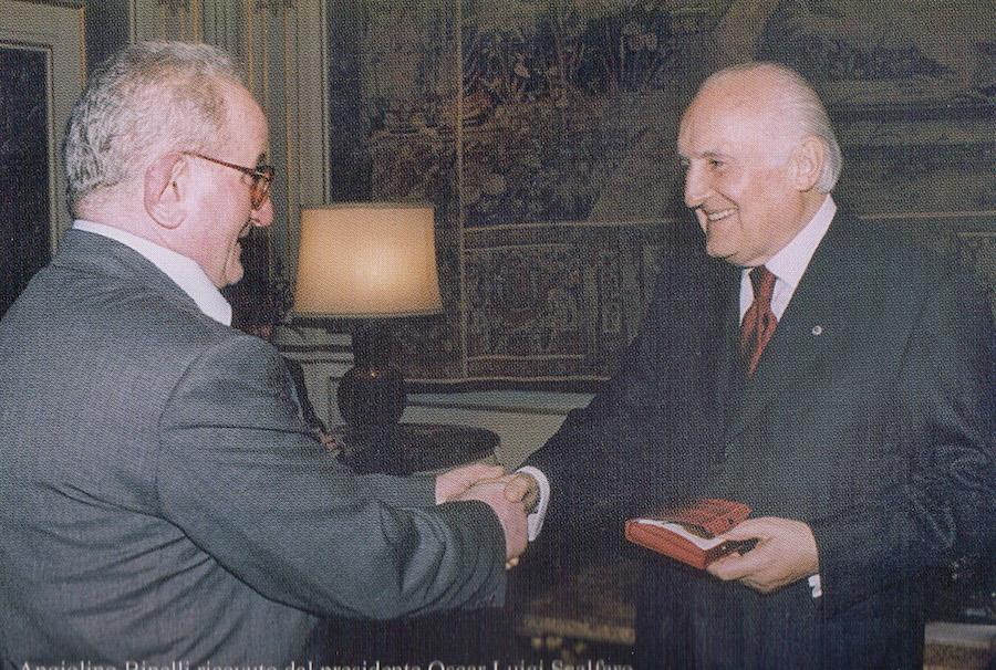 Incontro con Oscar Luigi Scalfaro